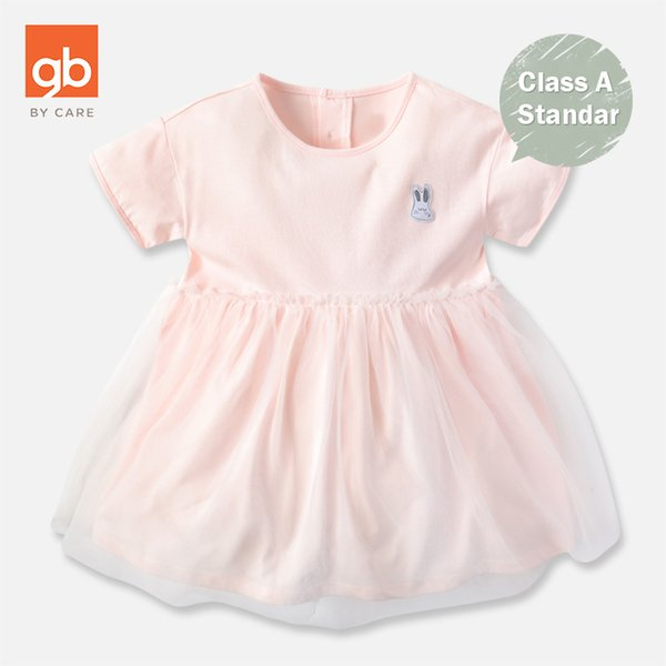 Goodbaby 2019 New Girls Short-sleeved Dress Skin-friendly Comfortable Soft Children Dress High Quality Cute Cartoon Pattern