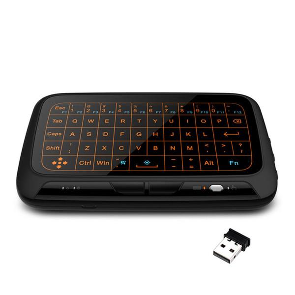 H18 + 2,4 GHz Rétro-éclairage Mini clavier sans fil Combo clavier Touchpad télécommande pour Smart TV pour Android TV Box PC