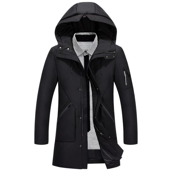 Hooded Long Winter Duck Down Jacket Men Casual Winter Outwear Down Parka Male Thick Coat Fashion Puffer Jacket Man JK-798