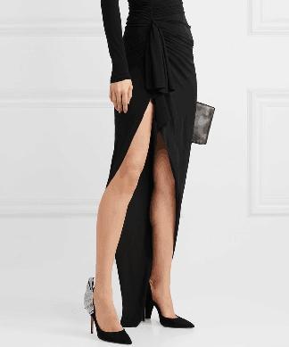 Carole Levy 2019 Design Sense Punta estrecha Dama negra Mujer sexy Verano Zapatillas individuales Tacones delgados Baile Bombas de fiesta Acogedor Stiletto