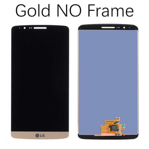 """5.5"""" Original Display for LG G3 LCD Touch Screen with Frame for LG G3 D850 D851 D855 LCD Display Replacement Black Whtie Gold"""