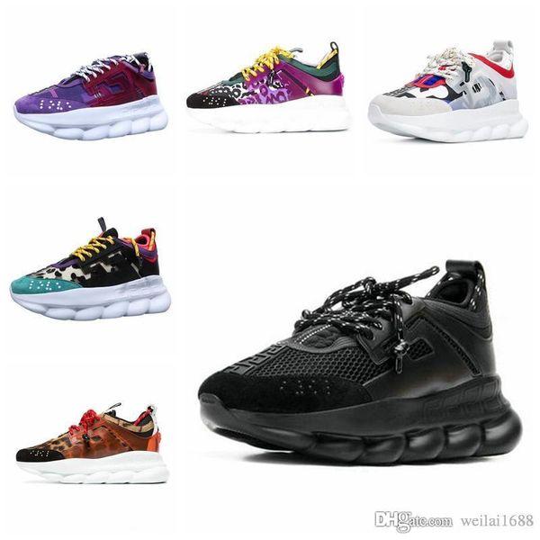 Nouveau luxe Chain Reaction Marque mens Designer chaussures formateurs formateurs Casual ace chaussures mode léger luxe hommes femmes sandales designer chaussures