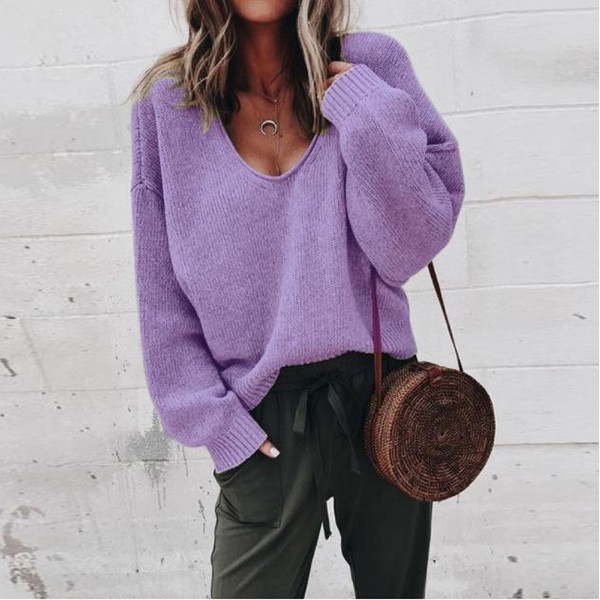 Spring Women Sweaters Long Sleeve V-neck Colorful Loose Cardigan Luxury European and American Style Girls Lace Clothes