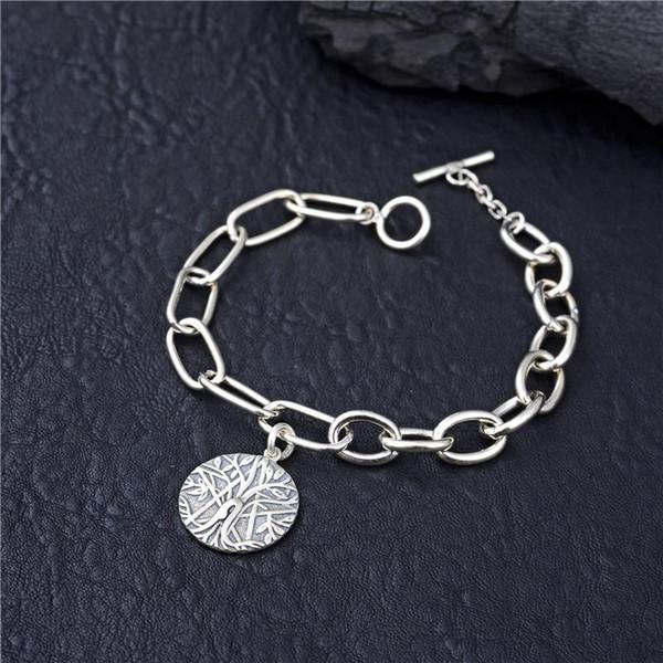 Peace Tree Pendentif Fashion New 100% Bracelet en argent 925 bijoux de la mode en argent sterling S925 Bracelet Boutique Christian Femmes