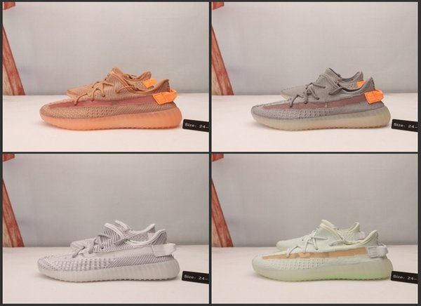 top popular Kanye West V2 Static Baby Kids running shoes True Form Hyper Wave Runner Clay BELUGA Reflective Sports shoes boy & girl trainers sneakers 2020