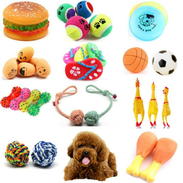 Wholesale Rubber Squeak Toy for Dog Screaming Chicken Chew Bone Slipper Squeaky Ball Dog Toys Tooth Grinding & Training Pet Toy Supplies