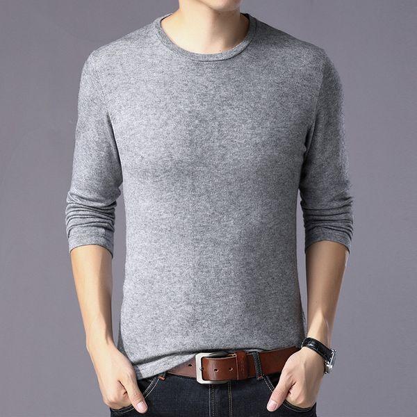 Homens camisola feita malha 2018 Autumn Mens Casual manga comprida Pullover Masculino blusas para hombre Camisolas de gola O-pescoço Pull Homme