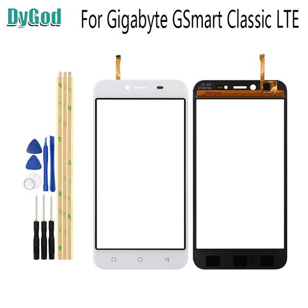 DyGod Gigabyte GSmart Klasik LTE Için 5.0 inç Dokunmatik Ekran Digitizer Cam Araçları Değiştirme Ile Panel Yedek Parçalar Yapıştırıcı