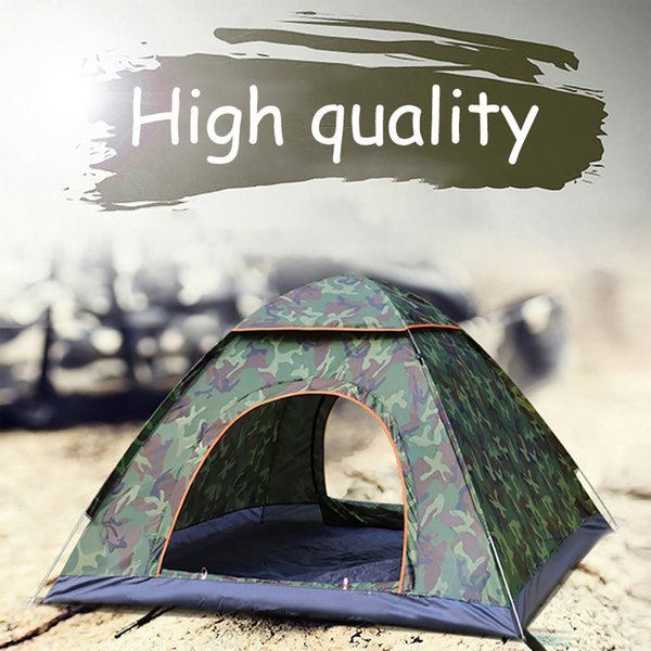 Camping Tent Waterproof Hiking Tent Anti-UV Folding Automatic Pop-up Open Ultra-Light Sun Protection Shed