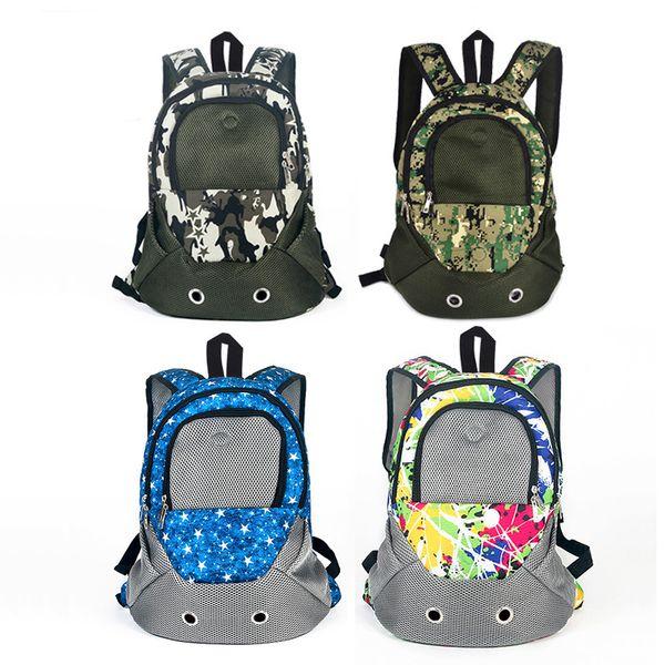 4 Colors Pet Carrier Backpack For Dogs Shoulders Back Front Pack Dog Cat Travel Bag Mesh Backpack Travel Shoulder Strap Y19061901