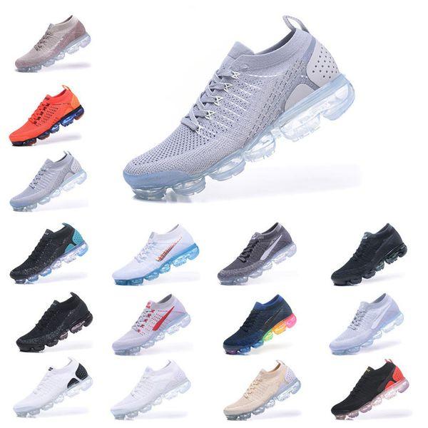 2018 Erkekler Tasarımcı Ayakkabı Kadınlar Koşu Ayakkabıları Kapalı 2.0 Hava Sneakers Yastık Siyah Beyaz Eğitmenler Spor Atletik Yürüyüş Koşu Yürüyüş 051