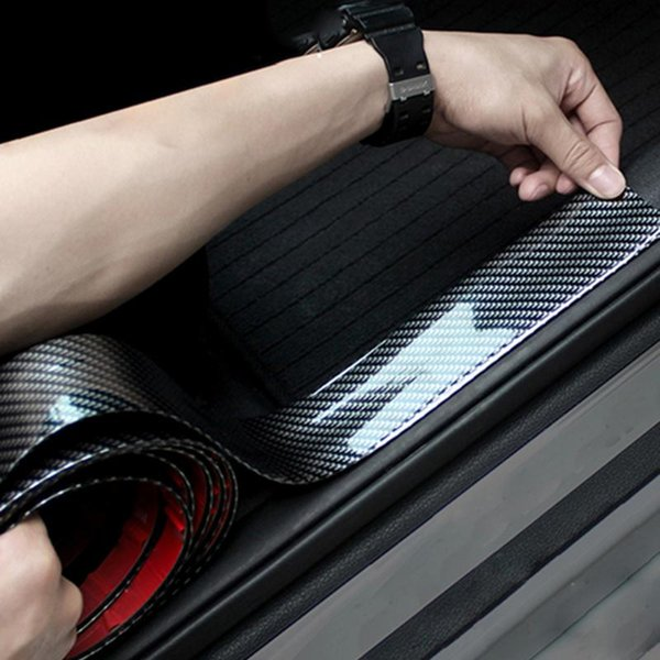 Car Stickers 5D Carbon Fiber Rubber Styling Door Sill Protector Goods for KIA Toyota BMW Audi Mazda Ford Hyundai etc Car Accessories