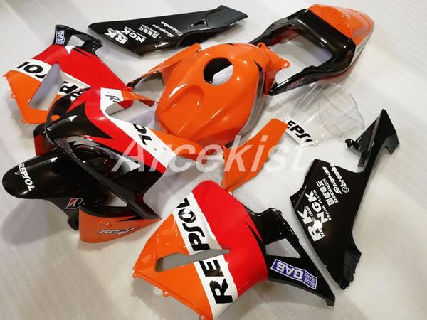 OEM Quality Nuovo Kit carene ABS per HONDA CBR600RR F5 2003 2004 03 04 Carrozzeria CBR 600RR custom carenatura rosso argento