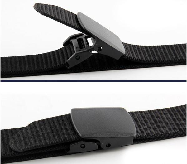 Cinturón de Nylon para hombres tácticos Paquete de 2 Correas Lienzo Cinturón de tela para exteriores con hebilla de plástico