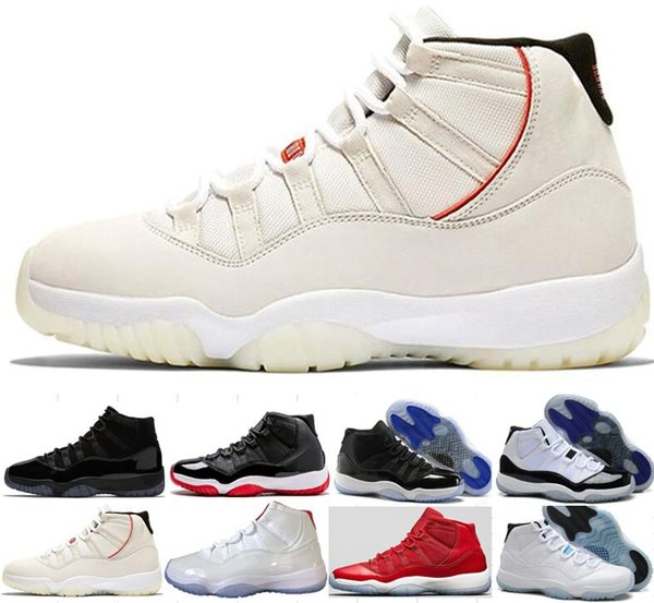 11 11s Platinum Tint Concord 45 Cap and Gown Prom Night Bred BARONS Space Jam Basketball Shoes Men Women Sport Sneakers 12 13