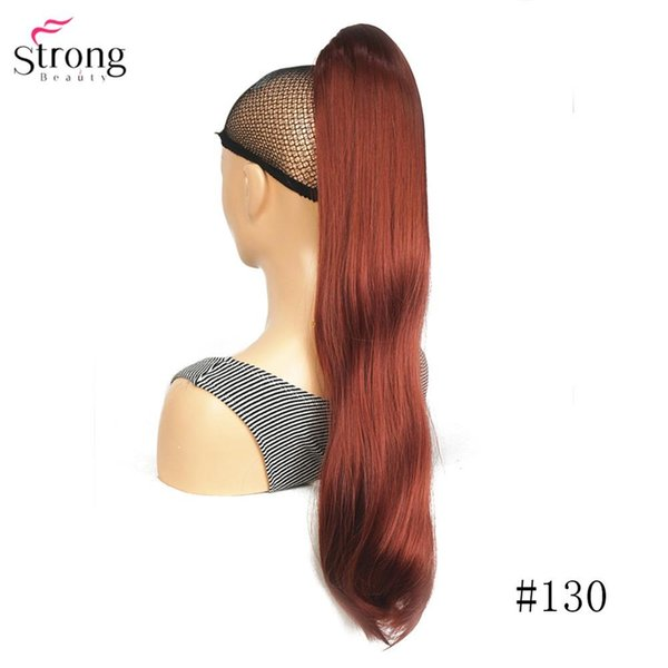 Long Straight Claw Clip Ponytail Hairpiece Synthetic Hair Extension