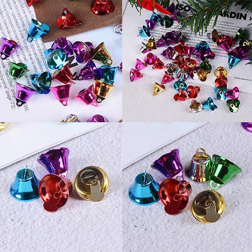 16mm 50pcs/lot Colorful Metal Jingle Bells Loose Beads Party Decoration / Christmas Tree Decorations/DIY Crafts Accessories