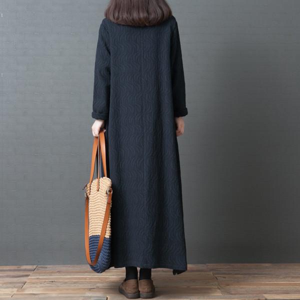 Herbst winret neuen Stil koreanischen Stil lose plus-Size-Damenmode bequeme Baumwolle Leinen lange Strickjacke Jacke Frauen
