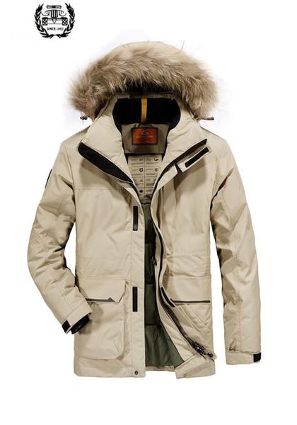 Großhandel 2019 Winter Herren Parka Jacken Desieners Mit Kapuze Jacke Männer Daunenjacke Parka Hohe Qualität Dropshipping Winter M ~ 4XL Breite Taille