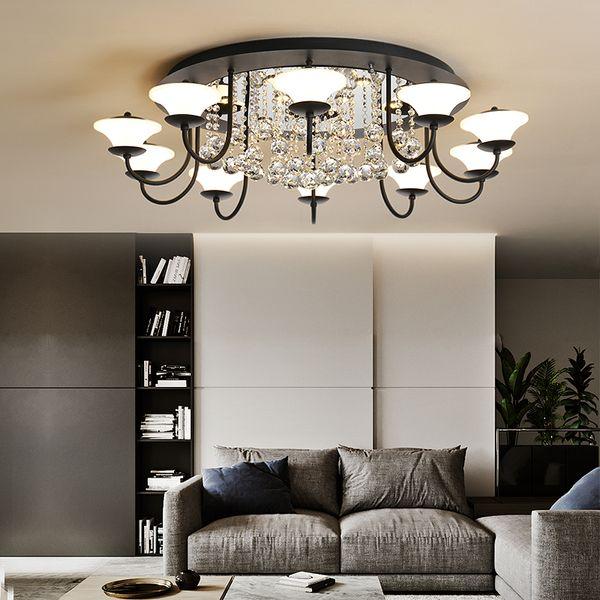 Acheter Américain Salon Led Lumière Simple Moderne Atmosphère Maison Led  Plafond Lumière Personnalité Restaurant Chambre Lampe Net Lampes En Cristal  ...