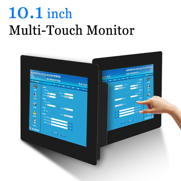 10.1 inch Wall hanging LCD Touch Monitor Projected Capacitive Touch screen Monitor VGA HDMI AV Output