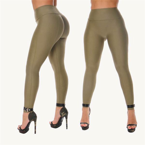 Nueva ropa de mujer de moda delgado casual Geometría Leggings Lápiz de cintura alta Poliéster Pantalones de una pieza