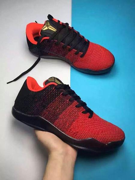 2018 высокое качество Kobe 11xi Elite мужская баскетбольная обувь Red Horse Sneaker KB 11s мужские тренеры спортивные кроссовки размер 40-46