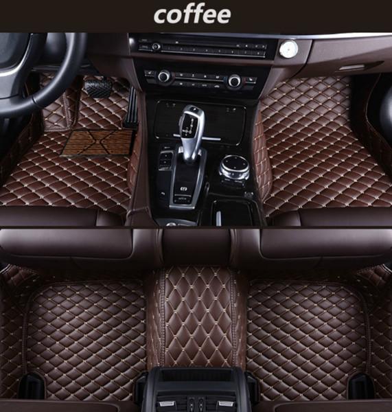 Mercedes-Benz AMG GT 2015-2018 alfombrilla de coche de lujo rodeada de cuero impermeable alfombra de coche verde resistente al desgaste envío gratis
