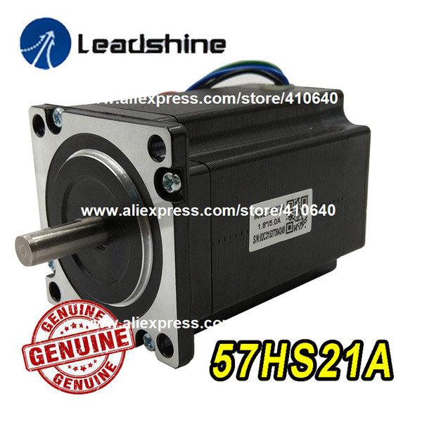top popular GENUINE Leadshine NEMA23 Stepper Motor 57HS21A 8mm Shaft 5A 2.1 N.M Torque 76mm Length 4 Wires Matching With Stepper Drive DM542 2021
