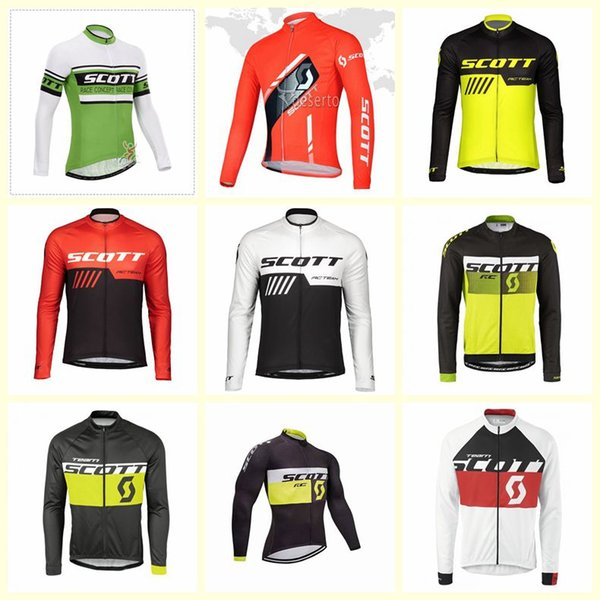 2019 Novo SCOTT equipe Ciclismo mangas compridas jersey Venda Quente Top Qualidade Da Marca de Bicicleta Desgaste Confortável roupas de montaria U51538