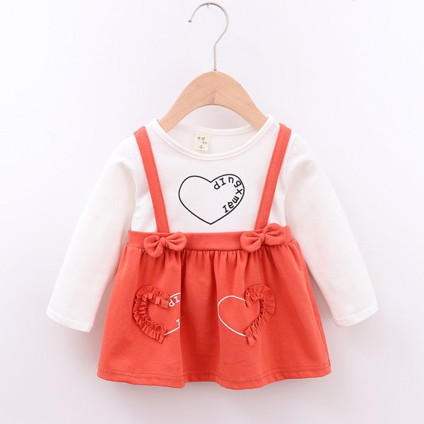 1 Year Birthday Baby Dress 2019 New Spring Autumn Baby Girls Clothes Long Sleeve Cotton Casual Newborns Dresses Infant Costume