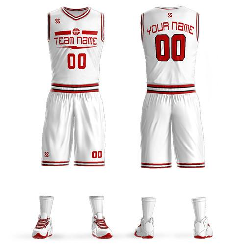 The latest basketball suit casual outdoor casual sportswear diversified custom pattern design their own pattern logo
