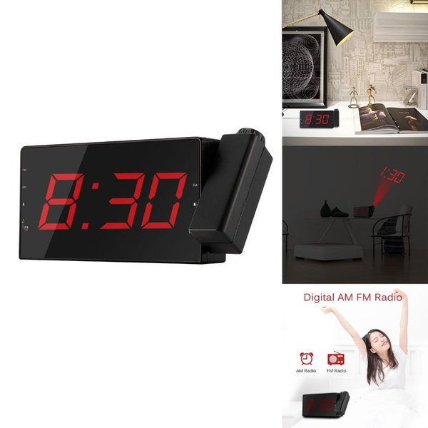 Clock with time Projection Temperature Electronic Table Watch Bedside Desk Projector watch nixie Digital Clock FM Radio Alarm