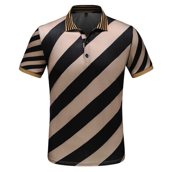 T-shirt da uomo bicchierino-manicotto degli uomini bianchi e americani di grande formato 2019 estate estate t-shirt hip-hop M-XXXL-806