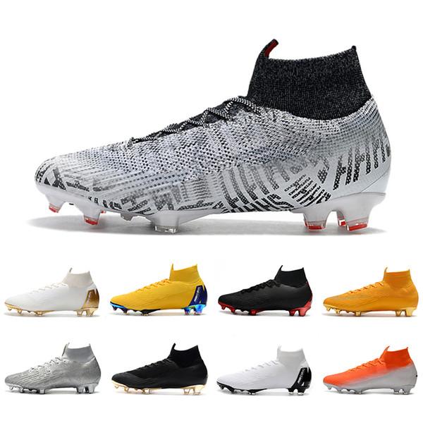 2019 Mercurial Superfly VI 360 Elite FG KJ 6 XII 12 CR7 Ronaldo Neymar Mens donna scarpe da calcio alte scarpe da calcio tacchetti 39-45