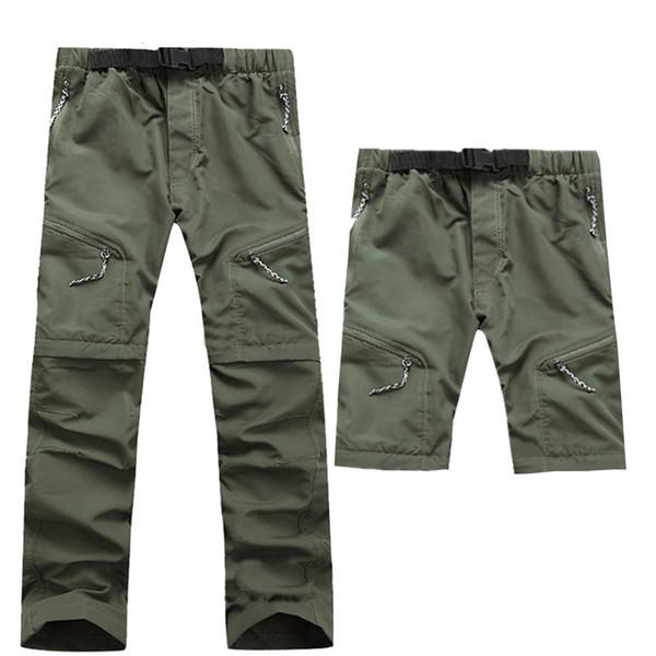 2019 Yeni Yaz Açık Spor Hızlı Kuru Pantolon Erkekler Kamp Balıkçılık Yürüyüş Pantolon Erkek Çıkarılabilir Ince Nefes Trouse ...