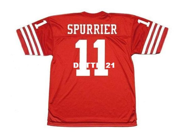 best selling Men #11 STEVE SPURRIER 1973 Sewn Stitched RETRO JERSEY Full embroidery Jersey Size S-4XL or custom any name or number jersey