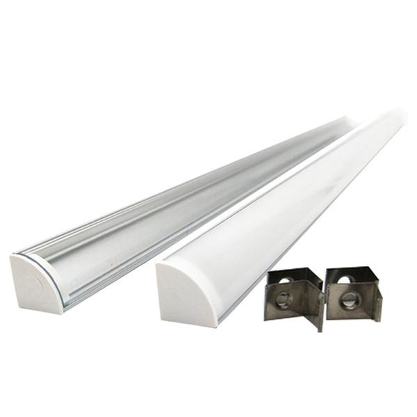 3.3ft / 1 Metro de 45 graus de canto levou tira perfil de alumínio e V tipo de canal de perfil para instalações de cozinha levou Strip ou gabinete lâmpadas