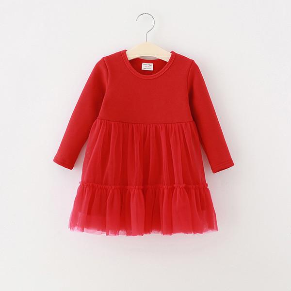 Winter Mädchen Kleid Kleinkind Kinder Baby Kleid Rot Schwarz Grau Langarm Samt Weihnachtsfeier Prinzessin Pageant Kleider Vestidos
