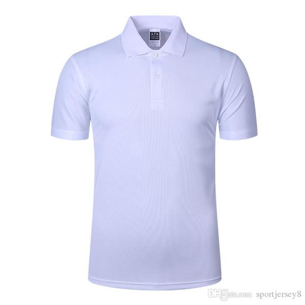 2027 Son sonbahar ve kış erkekler rahat çabuk kuruyan yaka Polo basit üst beyaz kısa kollu tişört JH-004-070