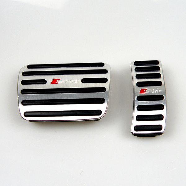 Нет Дрель Алюминиевого Сплава Педаль Разрыва Подушки Ауди Газ Крышка для Audi A4 A5 A6 Q3 Q5 Q7 AT LHD Педали Перерыв Газ
