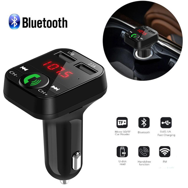 LED Ekran Araç Kiti Kiti Kablosuz Bluetooth FM Verici Bluetooth 3.0 LCD MP3 Çalar 2 USB bağlantı noktaları Araç Aksesuarları MP3