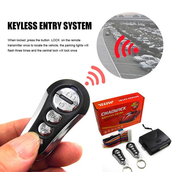 1-Way Car Keyless Entry System Without Siren For 12V DC Vehicle Which Have Central Door Lock System
