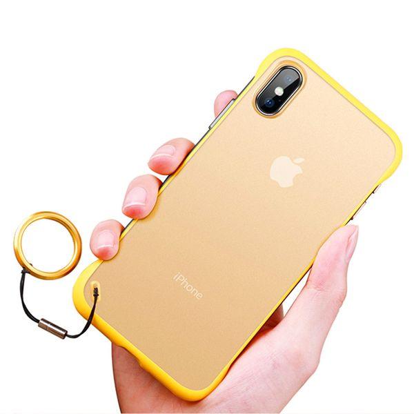Handy-Fall stoßfestes hartes PC-Telefon-Fall-Ring-schützende rückseitige Abdeckung für iPhone X Xr Xs maximales 8 7 6 6S Plus