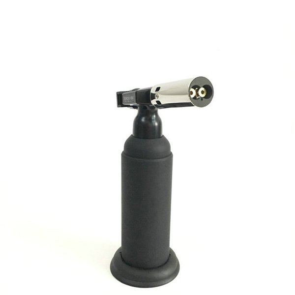 high quality Refillable Inflatable Metal dual flame torch Windproof Butane gas Torch with gift box For Smoking Kitchen BBQ Tool dhl free