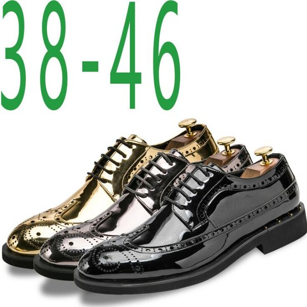 mens designer t shirts accessories for men patent-leather men's personalized fashion nightclub casual shoes mens designer loafers G5.33