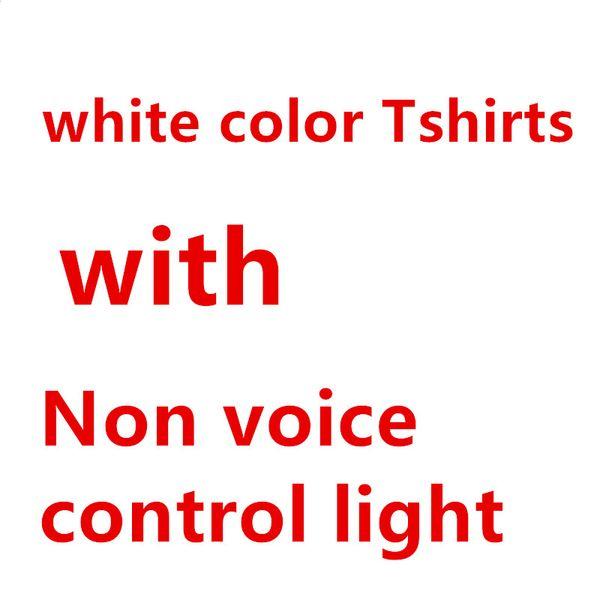 Camisetas blancas, + luz de control no de voz