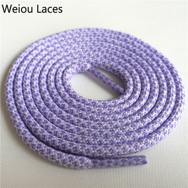 Wellace 160cm Round Shoelaces Women Shoe Laces Cord Ropes for Martin Boots Sport Shoes Different Colors hiking boot laces shoestring