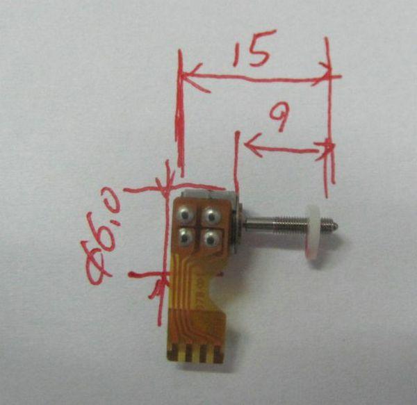 Motore passo-passo in plastica in miniatura, motore passo-passo a vite da 6 mm, motore passo-passo con regolazione della lunghezza focale della fotocamera