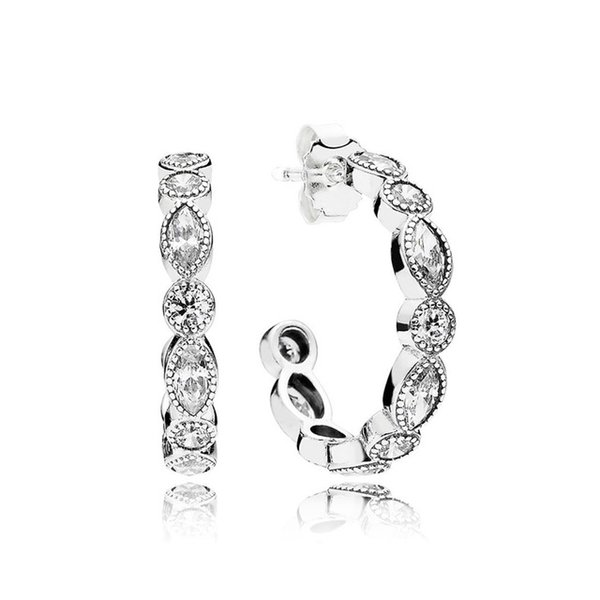 Kristie 100% 925 Sterling Silver Original 290724CZ ALLURING BRILLIANT MARQUISE EARRINGS, CLEAR CZ Women Fashion Gift Jewelry